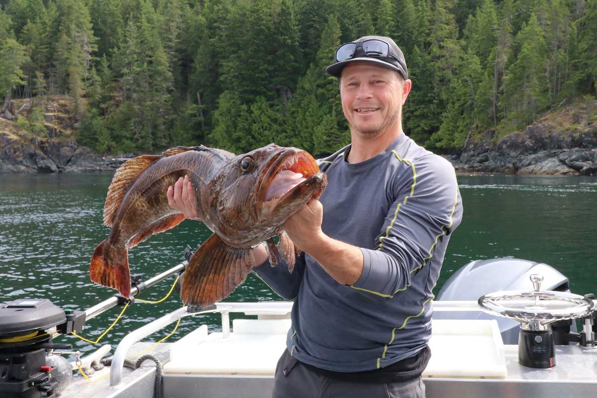 Man with Lingcod